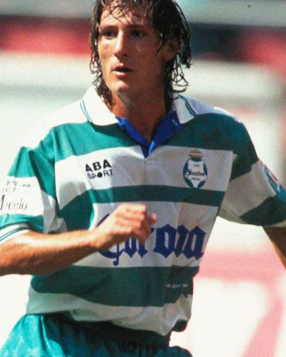 Jersey Retro Futbol Santos 1997 Local L - Gabriel Caballero