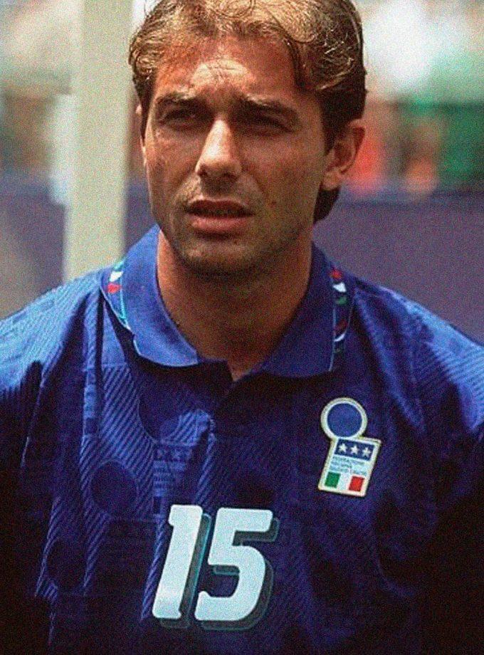Jersey Retro Futbol Italia 1994 Local L - Antonio Conte