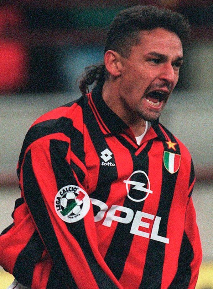 Jersey Retro Futbol AC Milan Local XL - Roberto Baggio