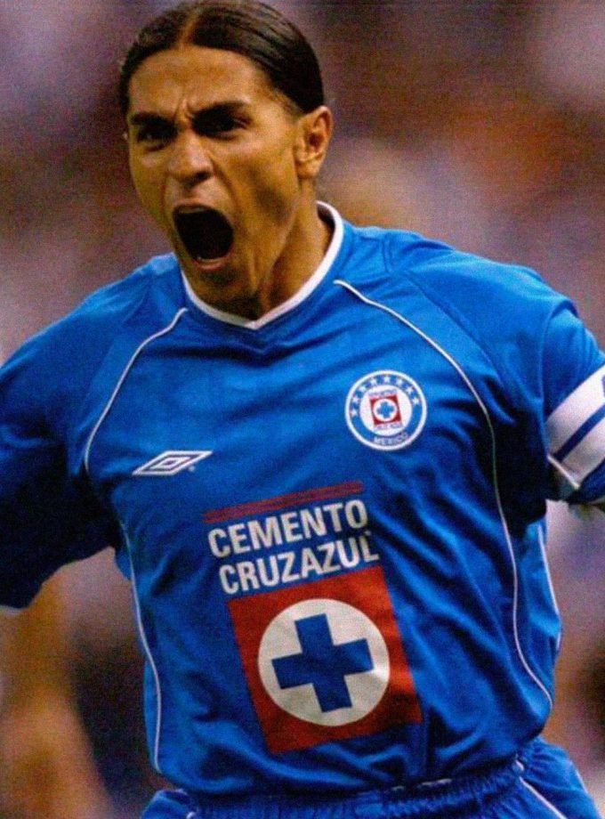 Jersey Retro Futbol Cruz Azul 2002 Local M - Francisco Palencia