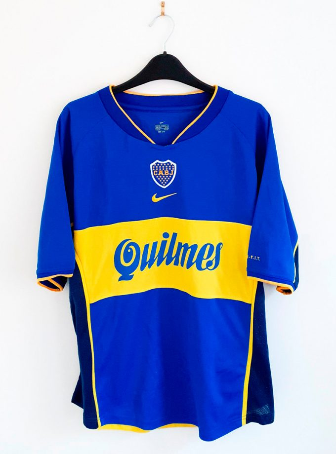 Jersey Retro Futbol Boca Juniors 2001 Local G