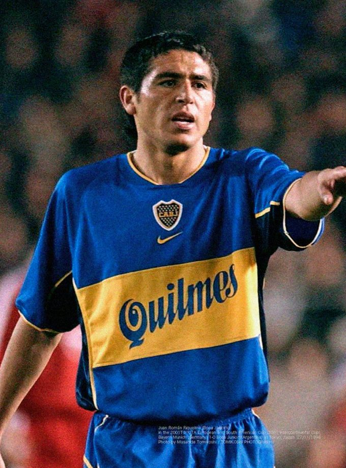 Jersey Retro Futbol Boca Juniors 2001 Local L - Román Riquelme