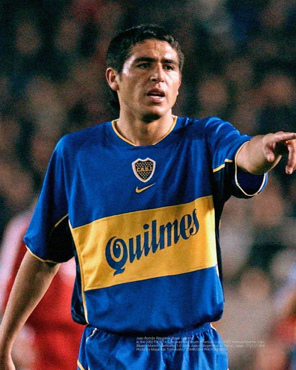 Jersey Retro Futbol Boca Juniors 2001 Local L - Román Riquelme