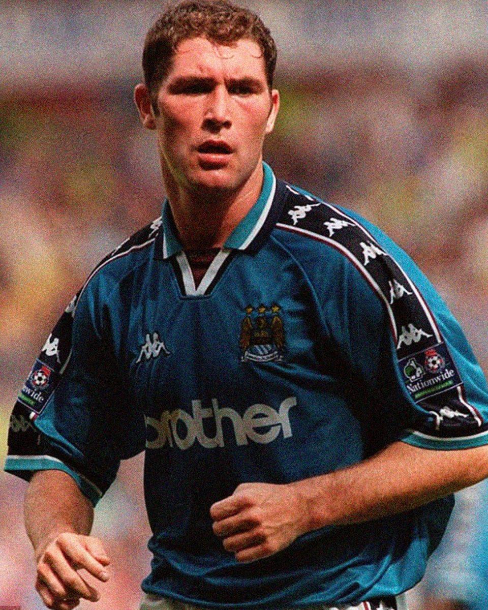 Jersey Retro Futbol Manchester City 1997 Local XL - Lee Bradbury