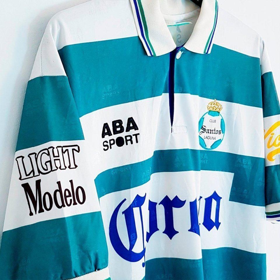 Jersey Retro Futbol Santos 1995 Local L