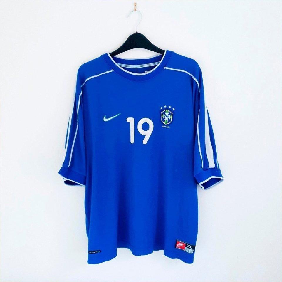 Jersey Retro Futbol Brasil 1998 Visitante XL