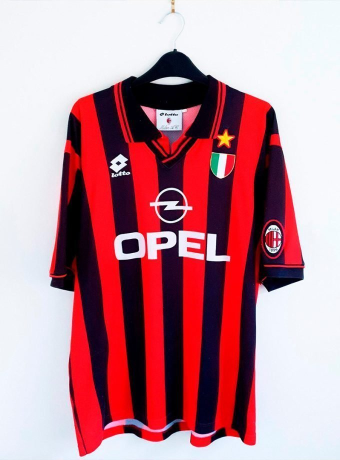 Jersey Retro Futbol AC Milan 1994 Local XL