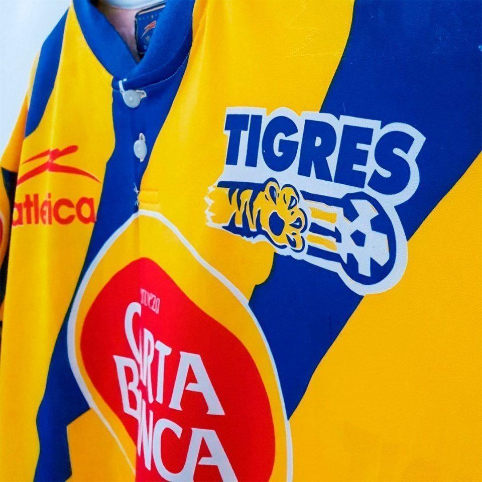 Jersey Retro Futbol Tigres 1996 Local M