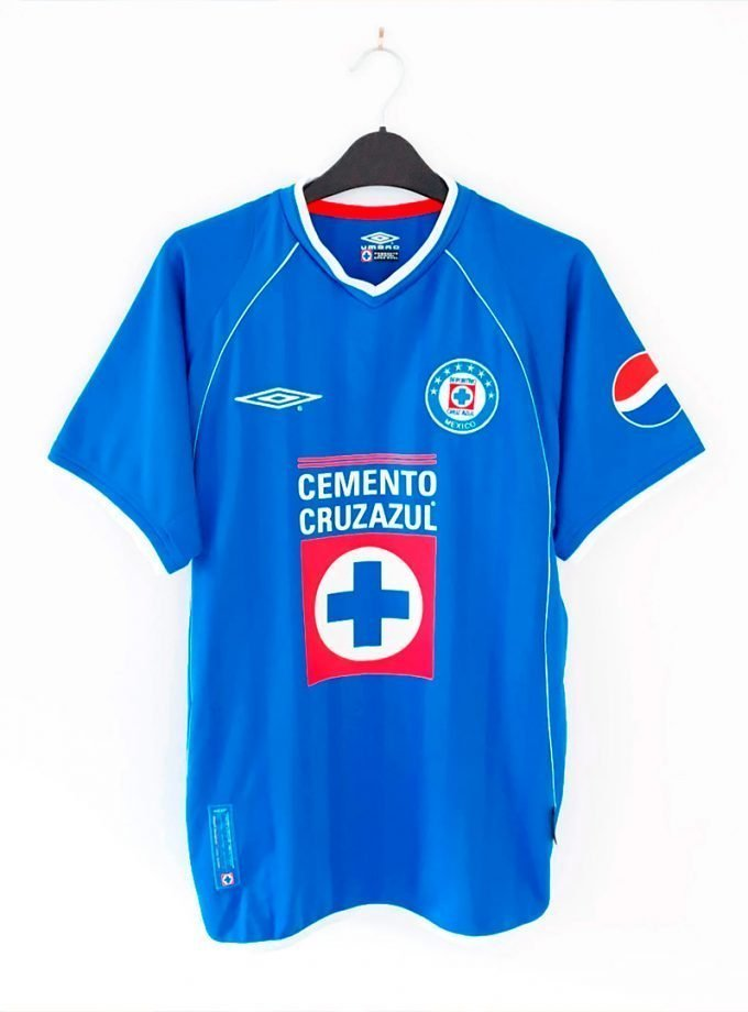 Jersey Retro Futbol Cruz Azul 2002 Local M