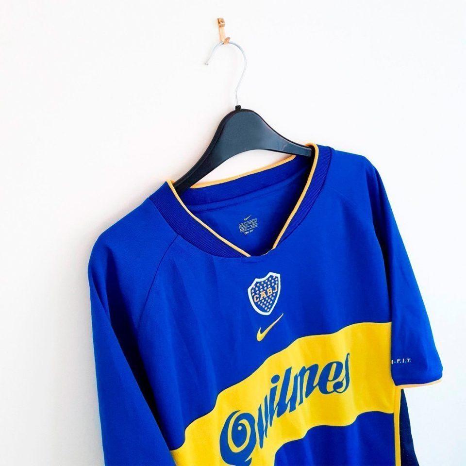 Jersey Retro Futbol Boca Juniors 2001 Local G