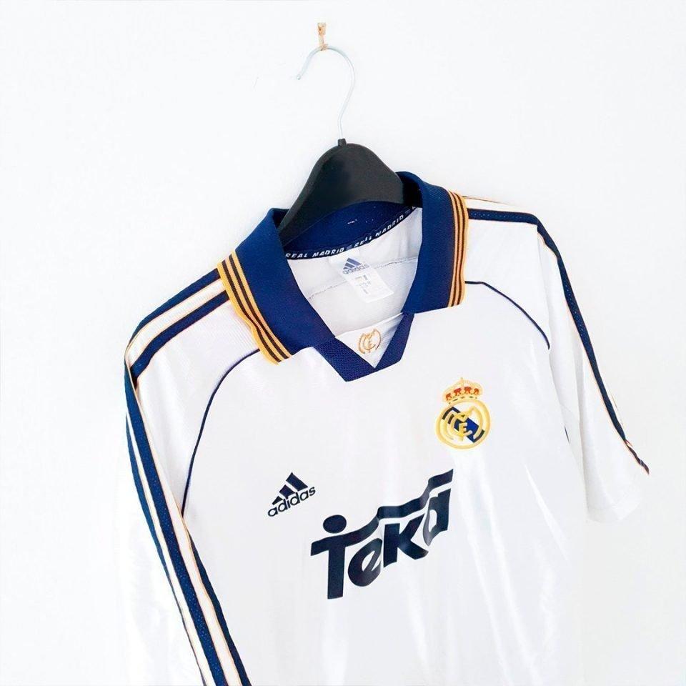 Jersey Retro Futbol Real Madrid 1998 Local L