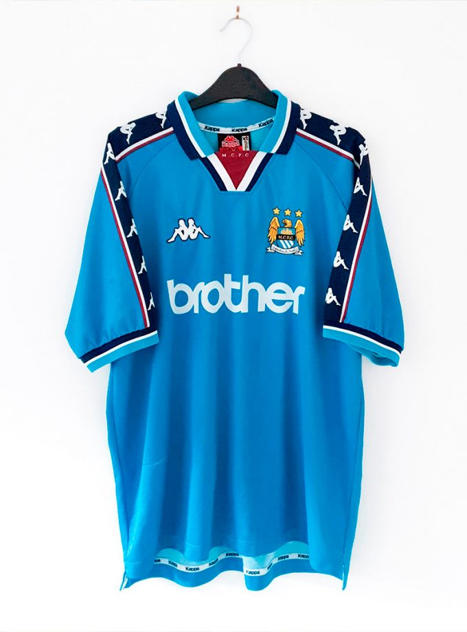 Jersey Retro Futbol Manchester City 1991 Local XL