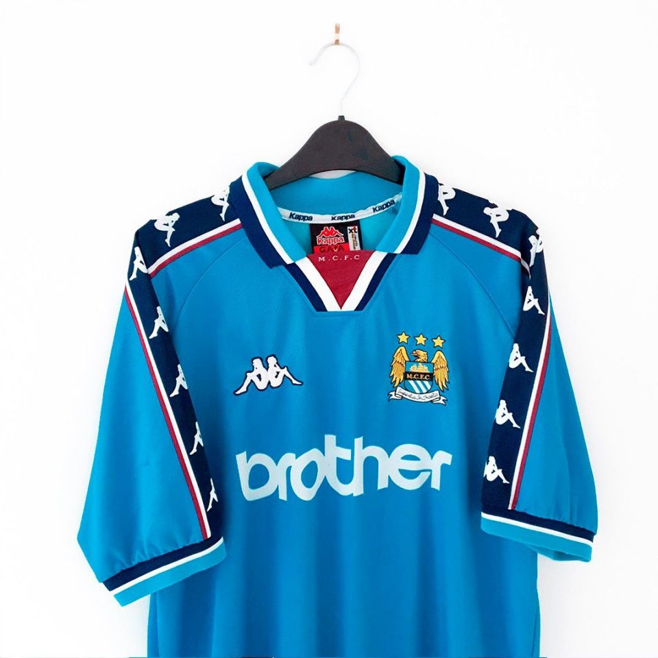 Jersey Retro Futbol Manchester City 1991 Local XL