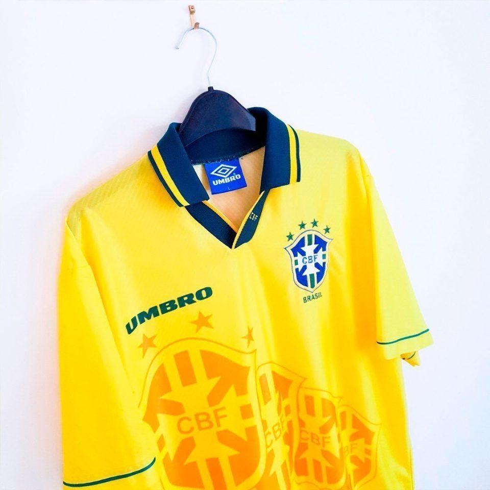 Jersey Retro Futbol Brasil 1994 Local L