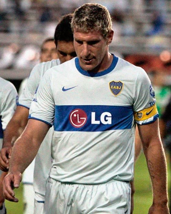 Jersey Retro Futbol Boca Juniors 2010 Visitante L - Martín Palermo