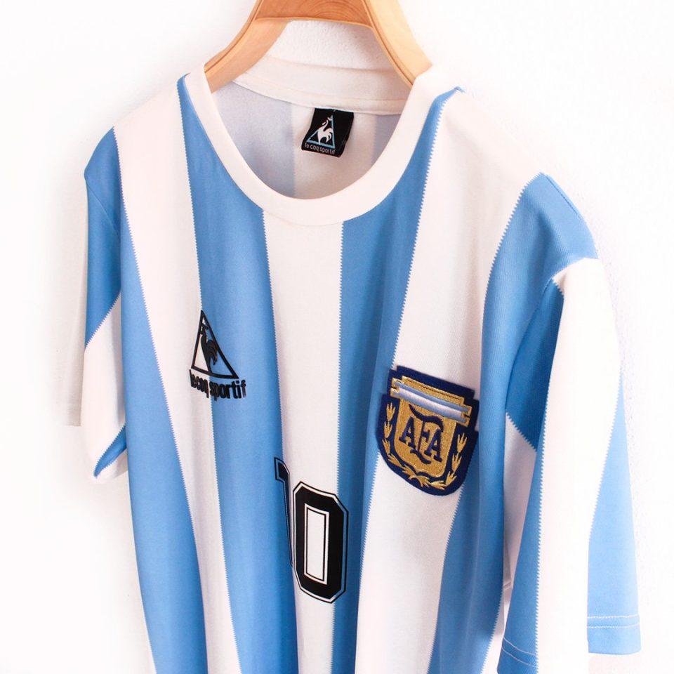Jersey Retro Futbol Argentina 1986 Local L