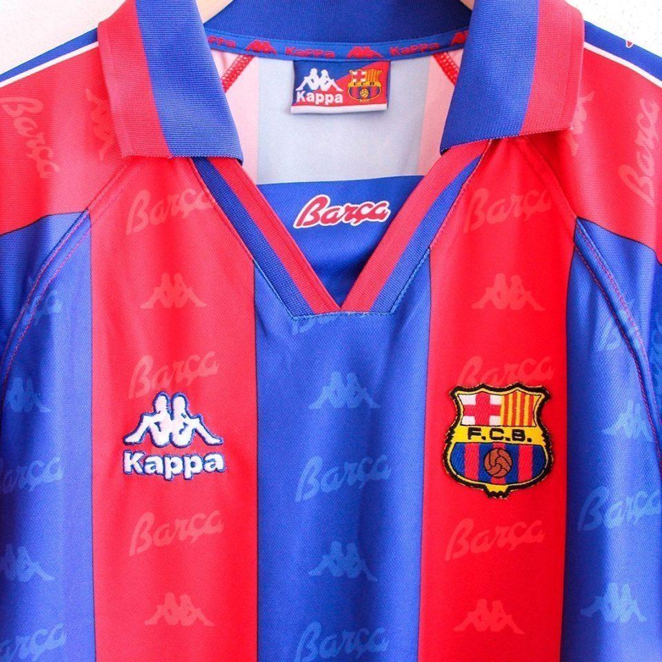 Jersey Retro Futbol Barcelona 1996 Local S