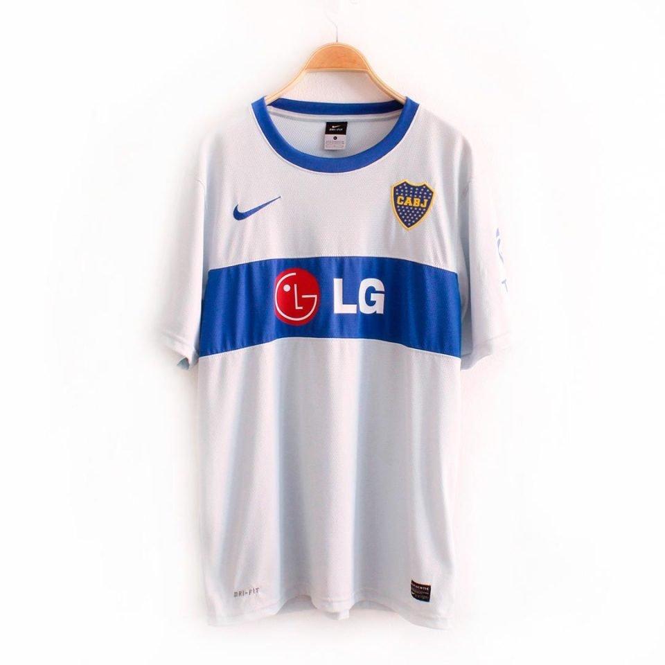 Jersey Retro Futbol Boca Juniors 2010 Visitante L