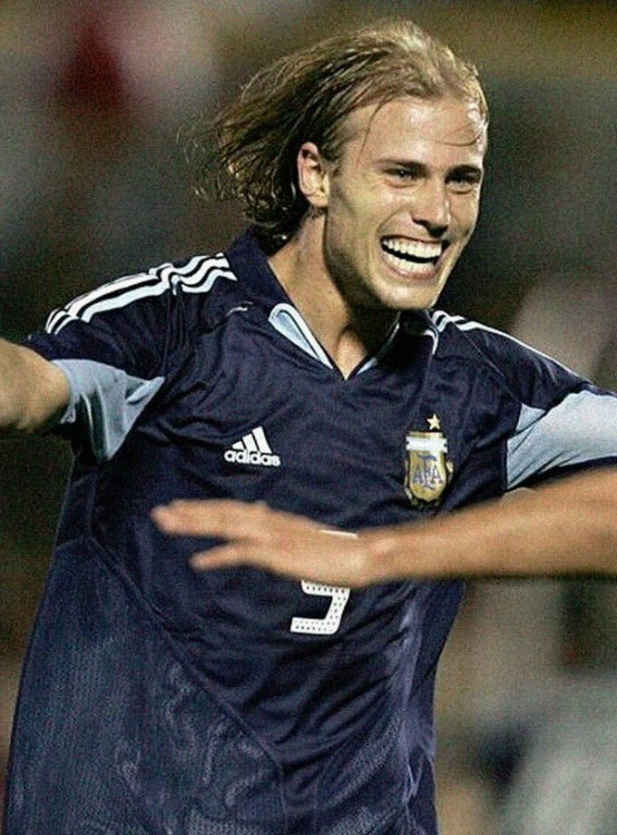 Jersey Retro Futbol Argentina 2004 Visitante XL - Luciano Figueroa