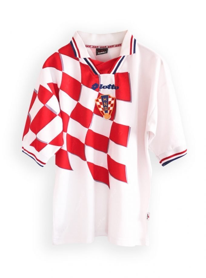Jersey Retro Futbol Croacia 1998 Local M