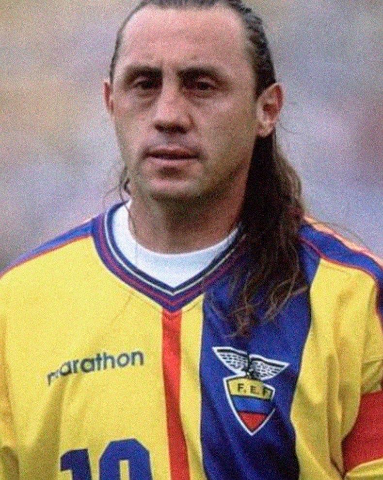 Jersey Retro Futbol Ecuador 1998 Local M - Alex Aguinaga