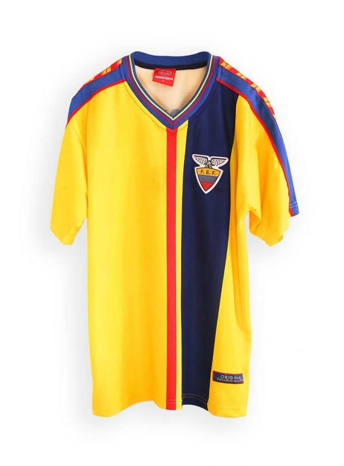 Jersey Retro Futbol Ecuador 1998 Local M