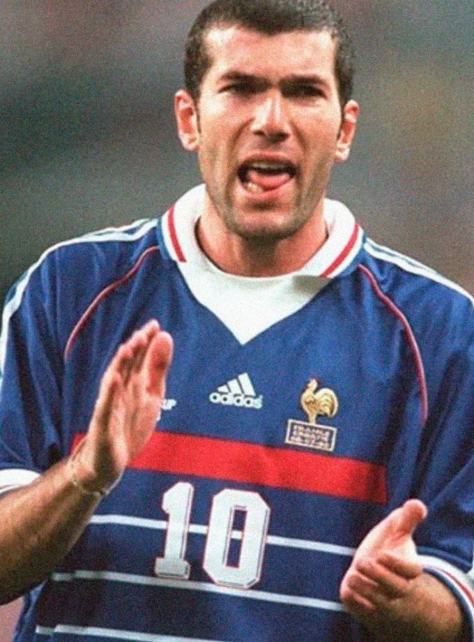 Jersey Retro Futbol Francia 1988 Local M - Zinedine Zidane