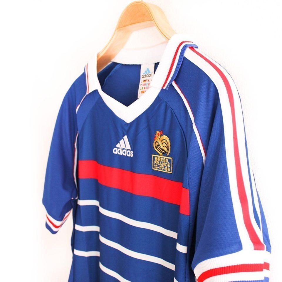 Jersey Retro Futbol Francia 1988 Local M