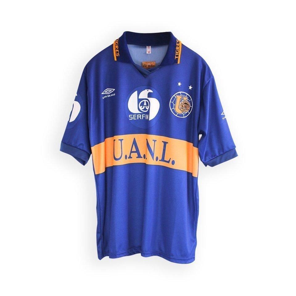 Jersey Retro Futbol Tigres UANL 1994 Visitante M